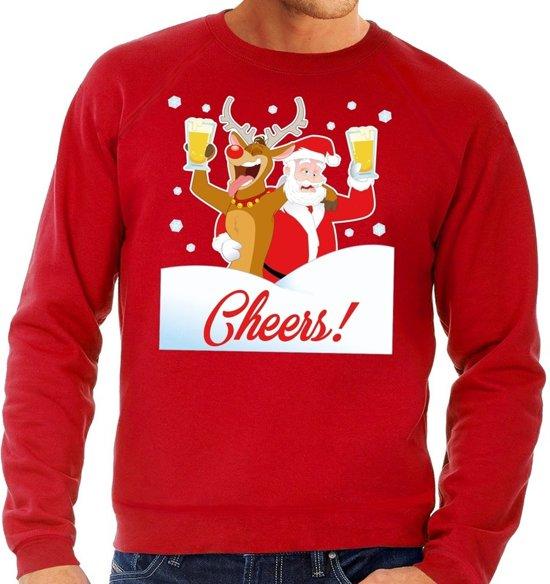 Kersttrui Heren L.Bol Com Foute Kersttrui Cheers Met Dronken Kerstman Rood Voor