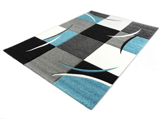 Geweven Karpet Diamond 665-930 Turquoise 160x230 cm