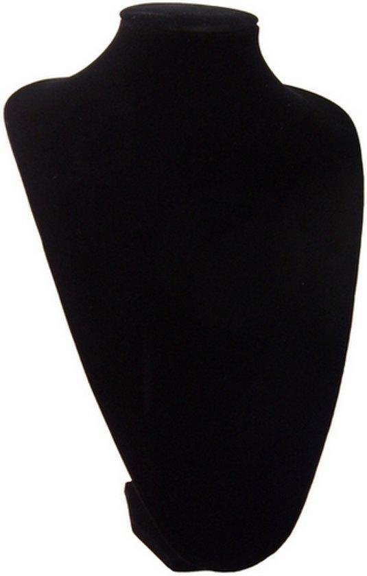 Ketting display hals zwart velours 35 cm