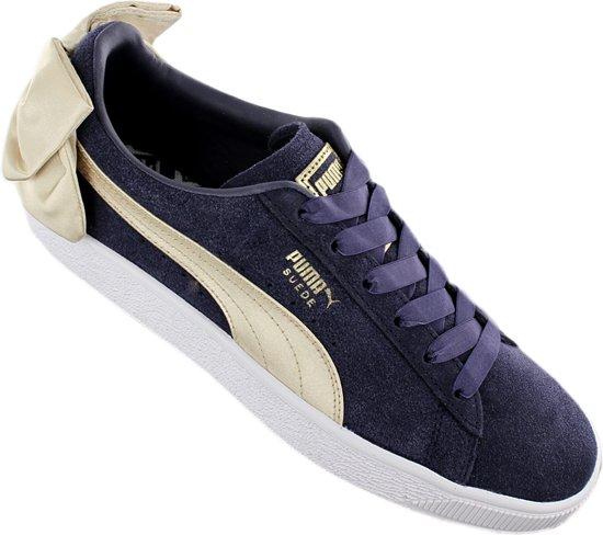 Puma Suede Bow Varsity 367732-02 Dames Sneaker Sportschoenen Schoenen Blauw
