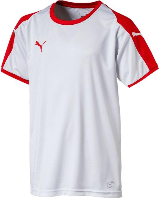 Puma Liga  Sportshirt - Maat 164  - Unisex - wit/rood