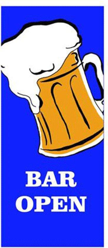 Bier vlag Bar Open 240 x 90 cm