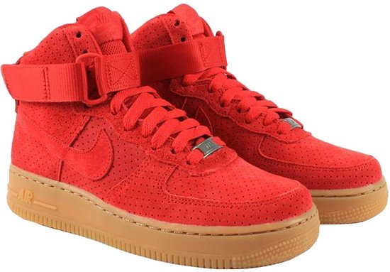 nike dames air force 1 suede rood