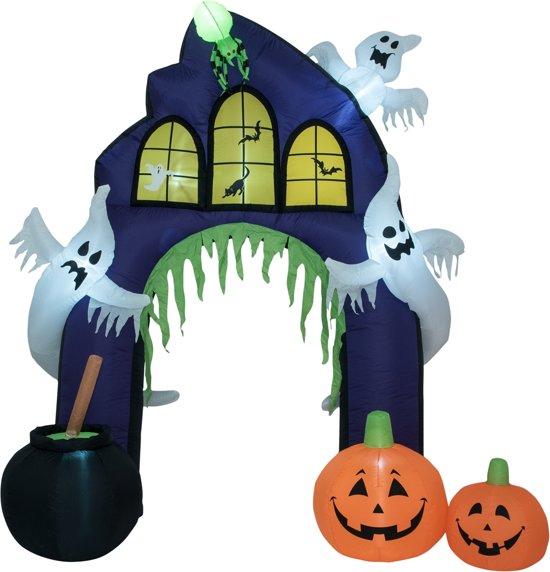 Halloween Decoratie Buiten.Europalms Halloween Versiering Met Licht Opblaasbaar Decoratie Haunted House Portal 270cm