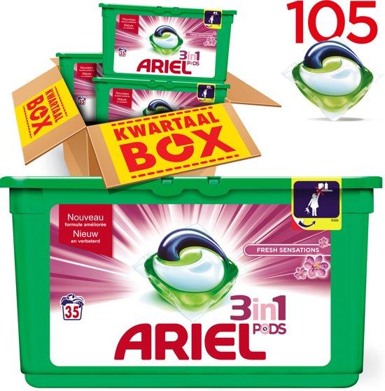 Ariel 3in1 PODS Fresh Sensations - Kwartaalbox 105 Wasbeurten - Wasmiddel Capsules