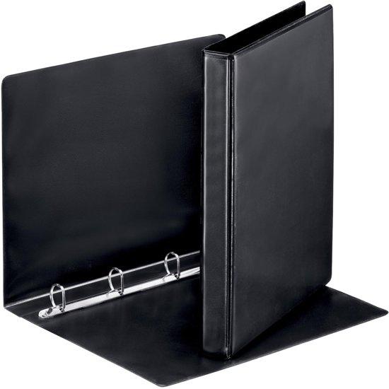 20x Esselte personaliseerbare ringmap, rug van 3,8cm, 4 ringen van 20mm, zwart