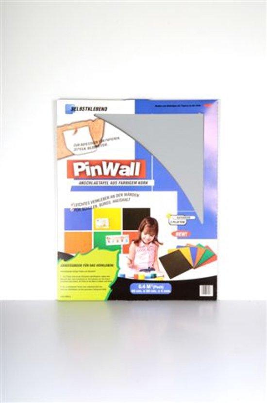 Pinwall Licht Grijs - Zelfklevende kurken prikbordtegels