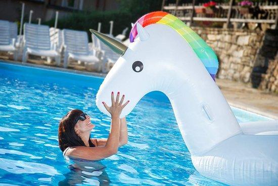 Opblaasbare Eenhoorn Luchtbed - Inflatable Unicorn XXL - 2.70m
