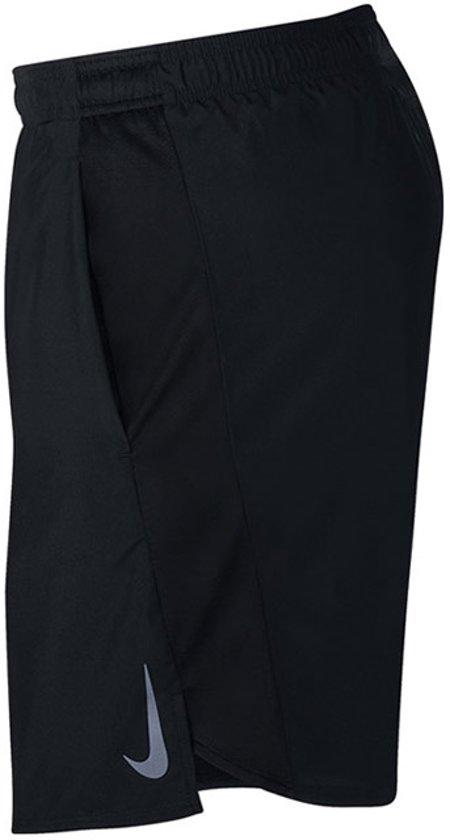 Nike Chllgr Short 7In Bf Heren Sportbroek - Black/Black/(Reflective Silv) - Maat M