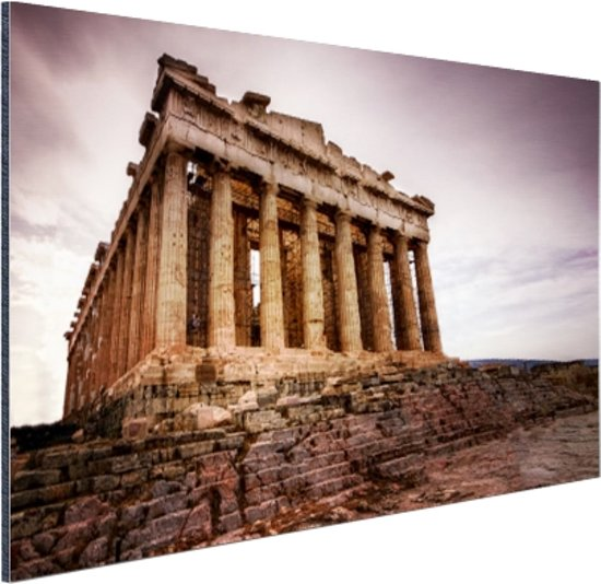 Het Parthenon Aluminium 120x80 cm - Foto print op Aluminium (metaal wanddecoratie)