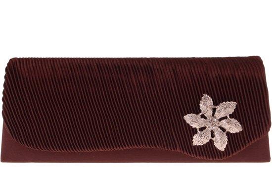 e59d70dc168 bol.com | Avondtasje bruin met strass bloem-