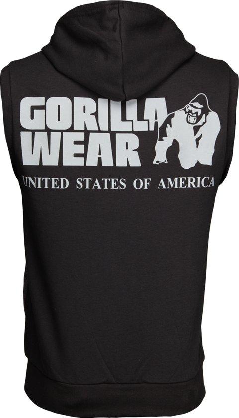 Wear Sleeveless ZwartXxxl Springfield Hoodie Gorilla Zipped W9DEI2HY