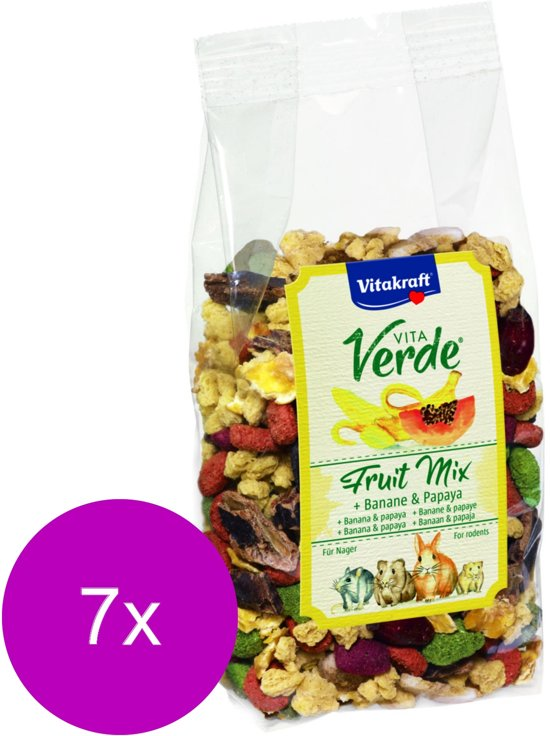 Vitakraft Vita-Verde Happy Frutti - Knaagdiersnack - 7 x 200 g