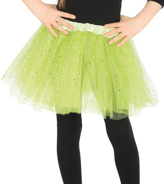 Petticoat/tutu rokje lime groen 31 cm voor meisjes - Tule onderrokjes lime groen voor kinderen