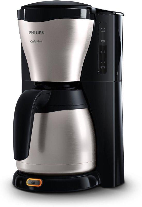 Philips Café Gaia HD7546/20 - Koffiezetapparaat - Zwart/zilver