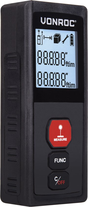 VONROC Laser afstandsmeter