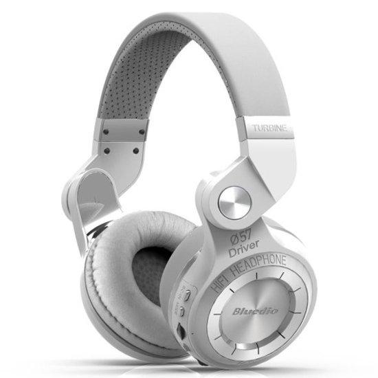 Bluedio T2+ Draadloze Hoofdtelefoon (Wit)