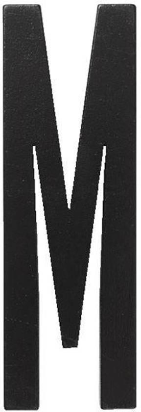 Design Letters Houten letter zwart M