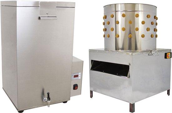 KuKoo Gevogelte Plukmachine en Broeirbad - 60cm - Kippen Plukker - Pluimveeplukker - Kippenplukmachine