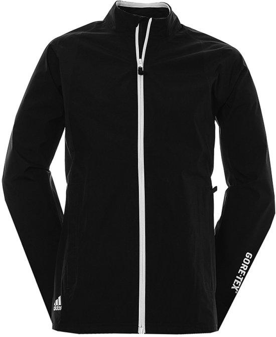 Adidas Golf Jack Paclite Gore-tex Lange Rits Heren Zwart Mt 2xl