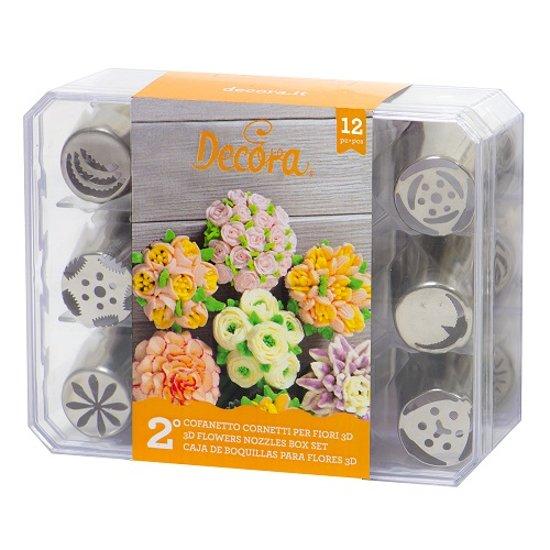 Spuitmondjes 3D - Boeket - Set 2 - Decora