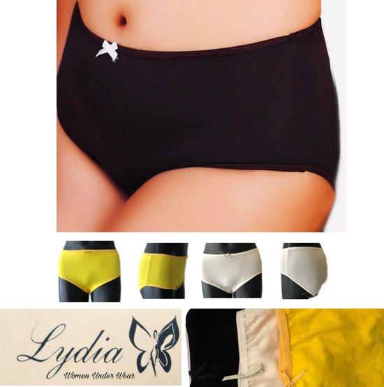 Maxi Zwart Xxl Maat geel Slip Lydia 3 pack off Wit HxwnvRBp
