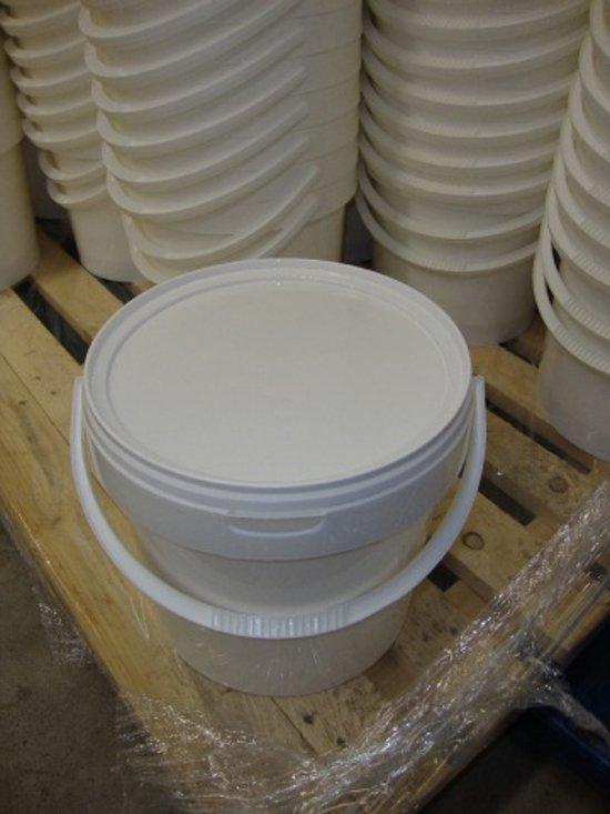 Emmer met deksel WIT - 10 liter