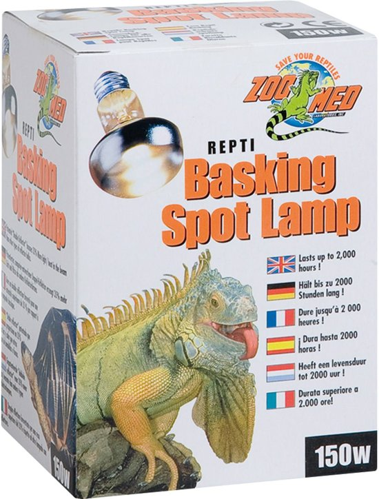 Zoomed terrarium verlichting Repti basking spot lamp 150 w.