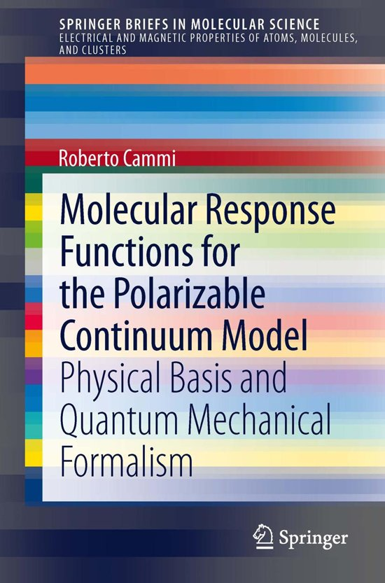 Molecular Response Functions for the Polarizable Continuum Model