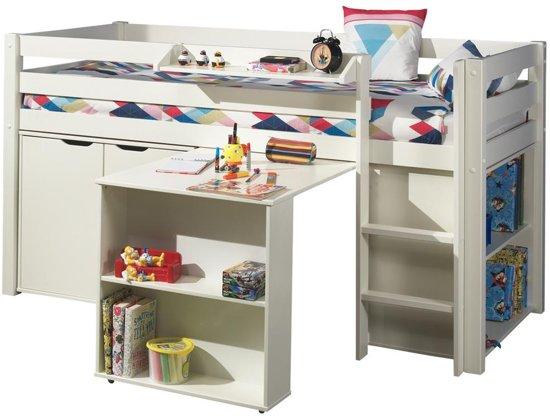 halfhoogslaper charlotte wit met bureau boekenkast en commode