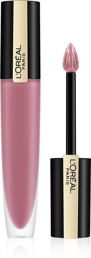 L'Oréal Paris Rouge Signature Lippenstift - 105 I Rule - Roze - Matte Vloeibare Lipstick - 7 ml