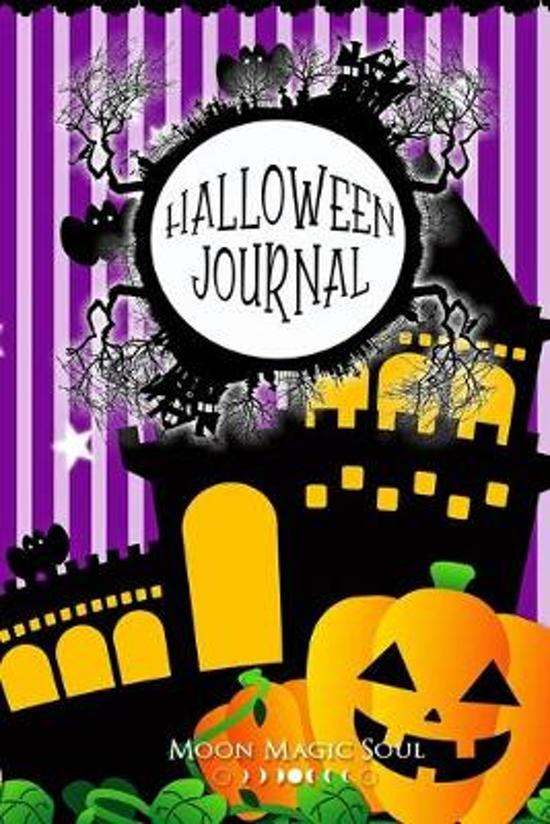 Halloween Journal: Spooky Halloween October Autumn Striped Journal Notebook Diary College-Ruled