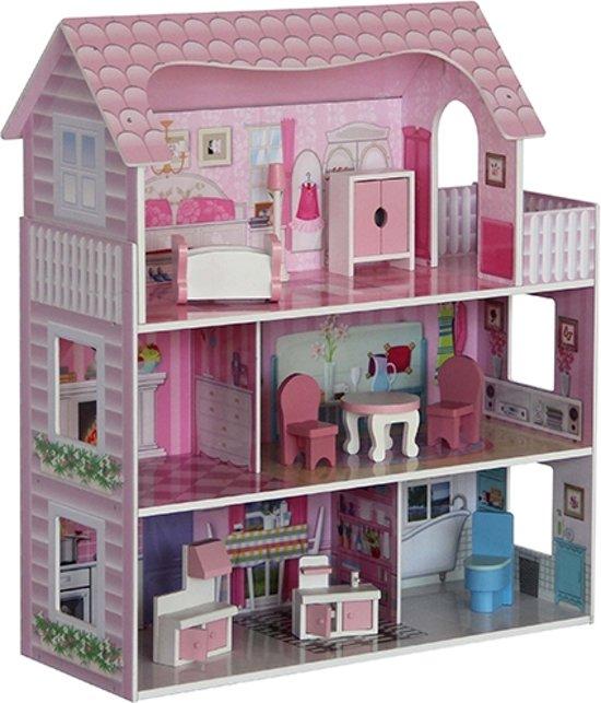 Fonkelnieuw bol.com | Poppenhuis roze dak groot; inclusief meubels, Playwood WN-48