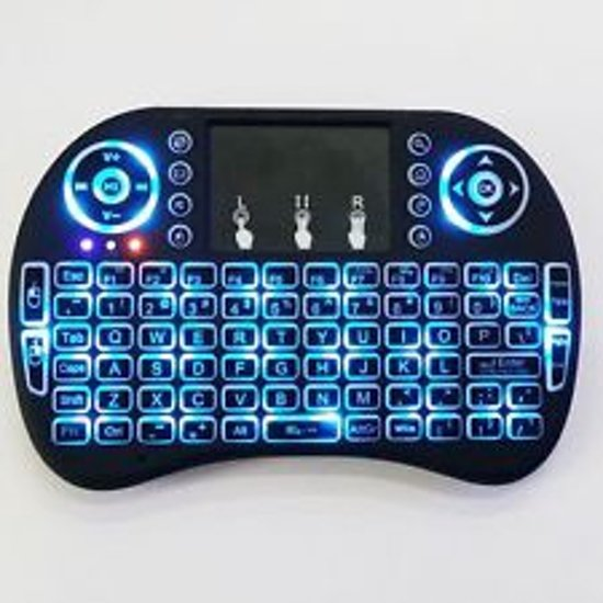 bol.com | Draadloos mini toetsenbord met BACKLIT touchpad Airmouse ...