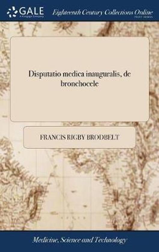 Disputatio Medica Inauguralis, de Bronchocele