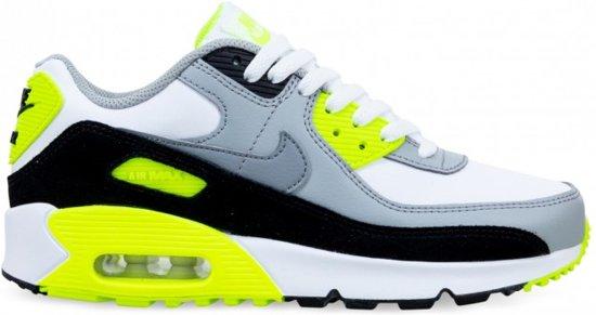Nike Air Max 90 WitGrijsGeel Jongens Maat 38