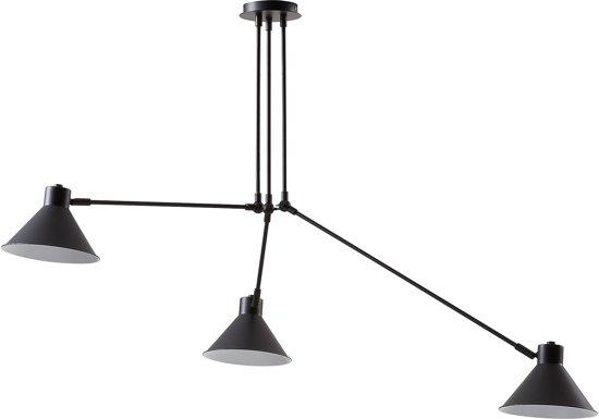 bol laforma odine hanglamp 3 lampen verstelbaar zwart