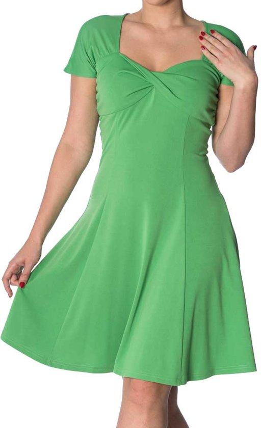 cf1f1421a65968 It s The Twist jurk appel groen - M - Dancing Days