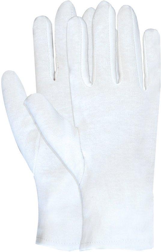 Majestic Handschoen Interlock wit 100% katoen, maat 9/L 12 paar.
