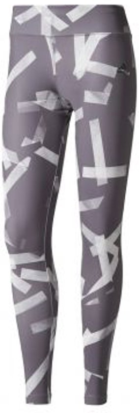 adidas - D2M Tight Long Print - Dames - maat M