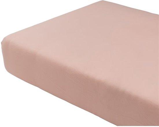 Jersey hoeslaken - 140 x 200 cm - roze