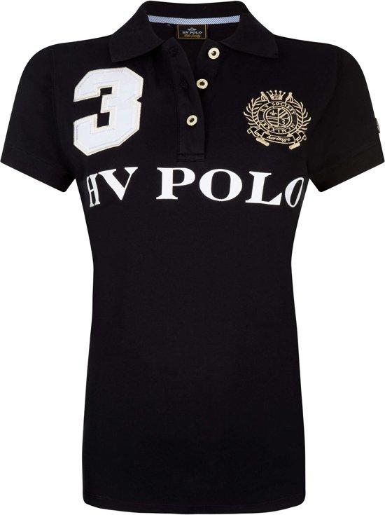 HV Polo Favouritas Eques KM - Polo Shirt - Zwart - XS