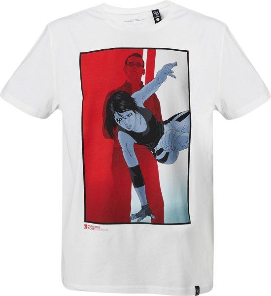 Mirror's-Edge-T-shirt-met-korte-mouw-wit-maat-XXL