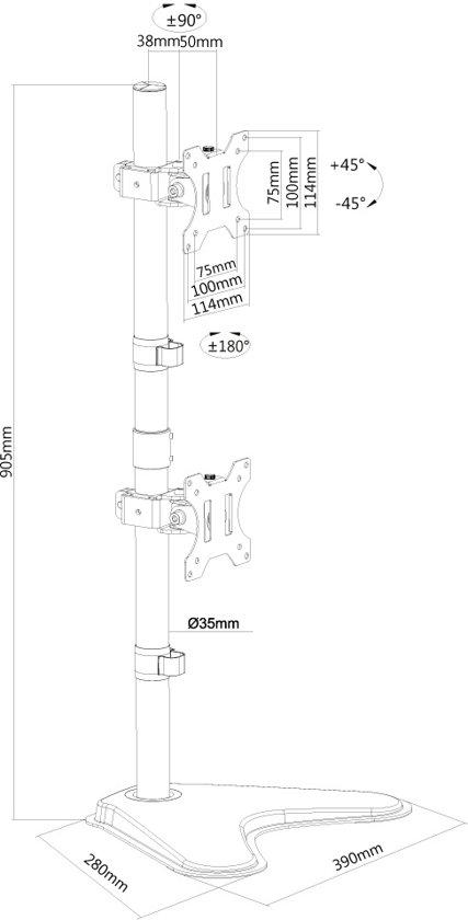NewStar Monitor Beugel FPMA-D550DDVBLACK