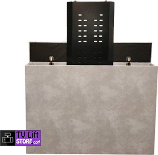 TV Lift kast betonlook grijs, met tv lift 10.4 (40 t/m 55 inch tv)