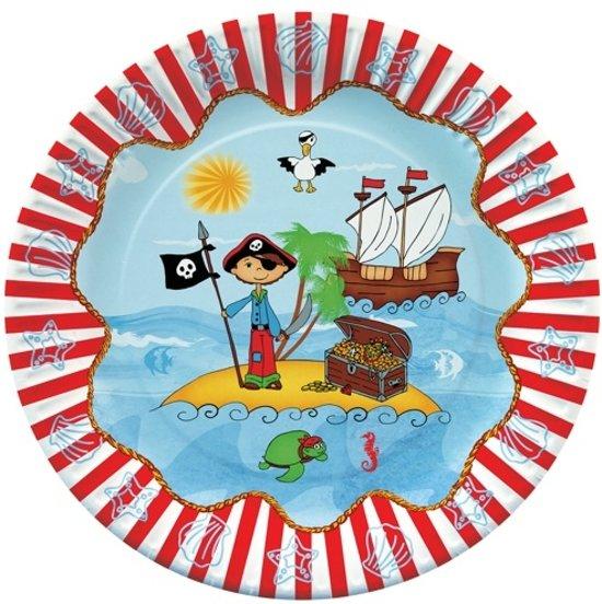 Papstar Pirate Island Wegwerpborden - Ø 23 cm - Papier - 10 stuks