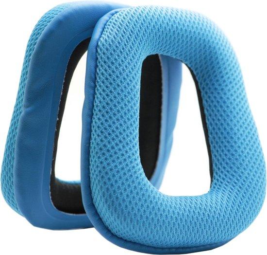 MMOBIEL Koptelefoon oorkussens earpads geschikt voor: Logitech (Blauw) Inclusief handleidi
