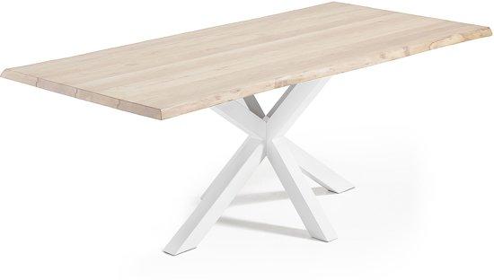 Wit Eiken Tafel : Bol.com laforma tafel arya 220x100x78 cm wit onderstel