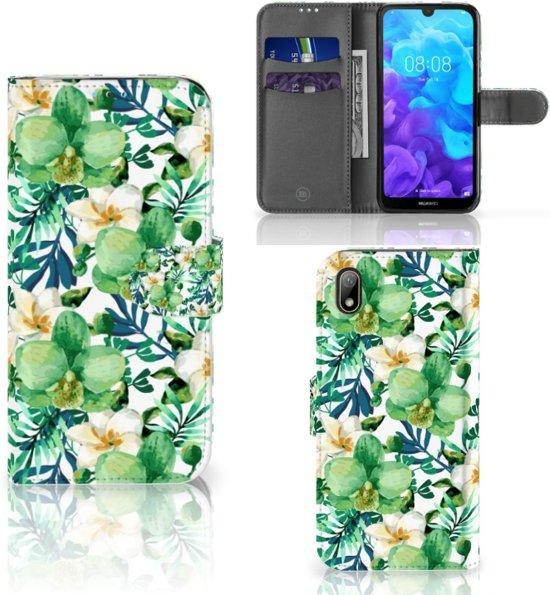 Huawei Y5 (2019) Hoesje Orchidee Groen