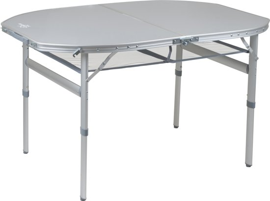 Bol.com bo camp tafel premium ovaal koffermodel 120x80 cm